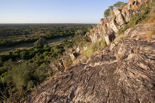 Picture of Looking out over Savuti plains from Bushman Painting Hill - Botswana - Africa
