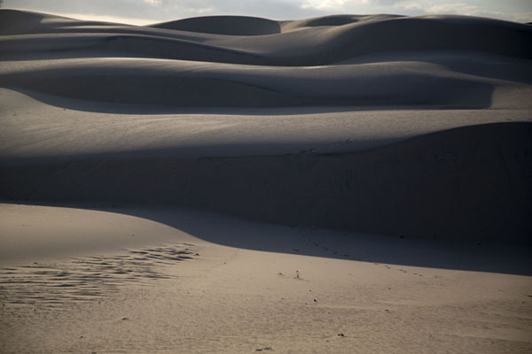 Foto de View of the sand dunes after sunriseCumbuco - Brazil
