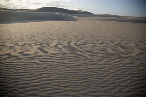 Flat and hilly parts of the sandy landscape | Cumbuco sand dunes | Brazil