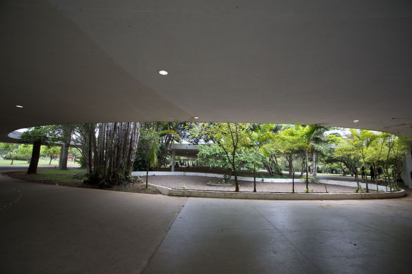 View from the covered walkway | Ibirapuera Park | Brazil
