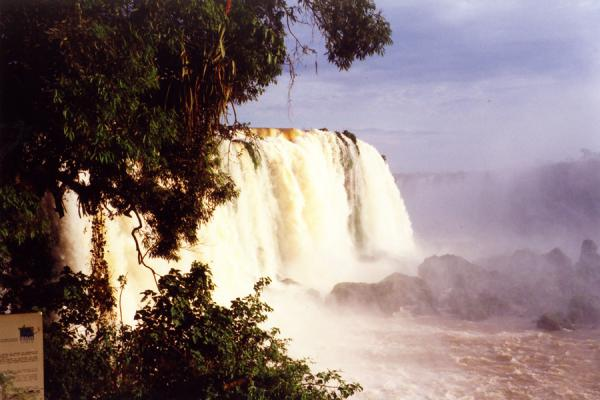 Wonderful sight from a distance. | Iguazu Falls | Brazil