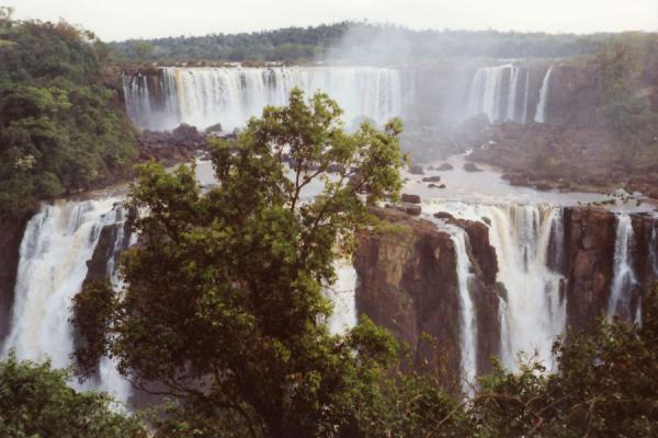 View of the terraced waterfalls of Iguazu | Iguazu Falls | Brazil