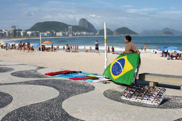 Selling beach items on Copacabana beach | Rio beach life | Brazil