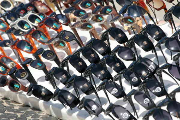 Picture of Copacabana beach: sunglasses waiting to be sold