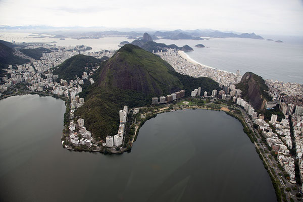Lagoa and Copacabana beach里约热内卢 - 巴西