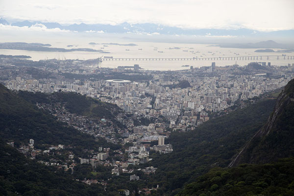 View of Guanabara Bay | Rio from the sky | Brazil
