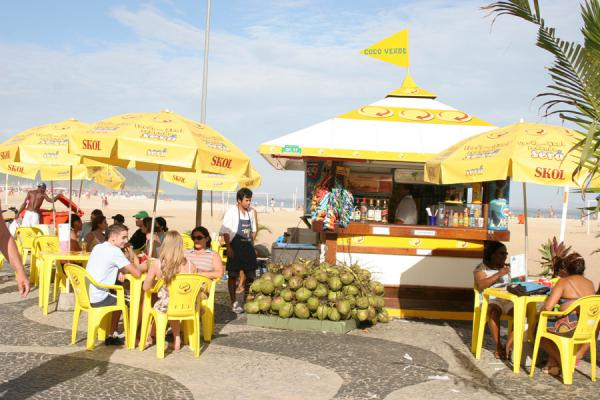 Drink stall on Copacabana beach | Rio Fruit Juices | Brazil