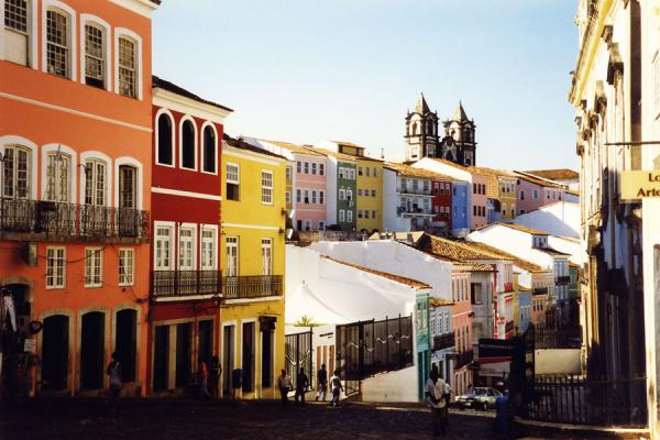 The city centre: colourful houses next to old churches | Salvador | Brazil