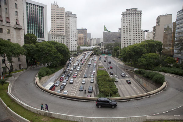Picture of São Paulo Historic Centre (Brazil): Looking southwest from the Viaduto de Chá