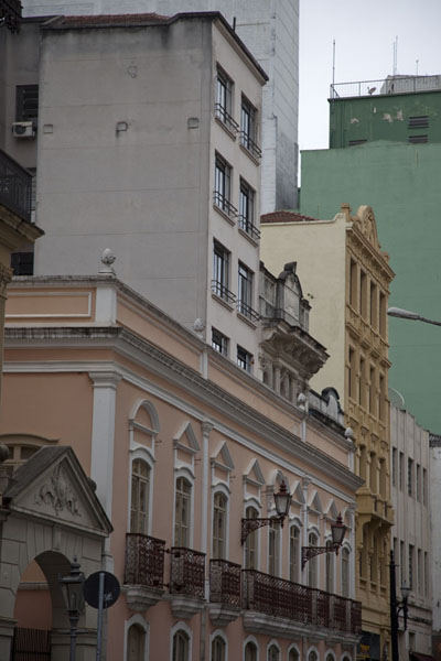 Row of old buildings on Rua Roberto Símonsen | São Paulo Historic Centre | Brazil