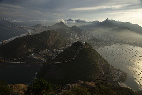 Picture of Sugar Loaf (Brazil): Sugar Loaf sticking out of the Copacabana skyline
