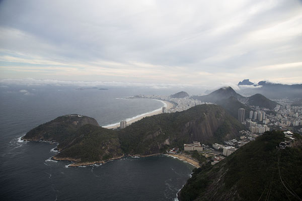 Picture of Sugar Loaf (Brazil): Sugar Loaf: cable car lines disappearing into the clouds