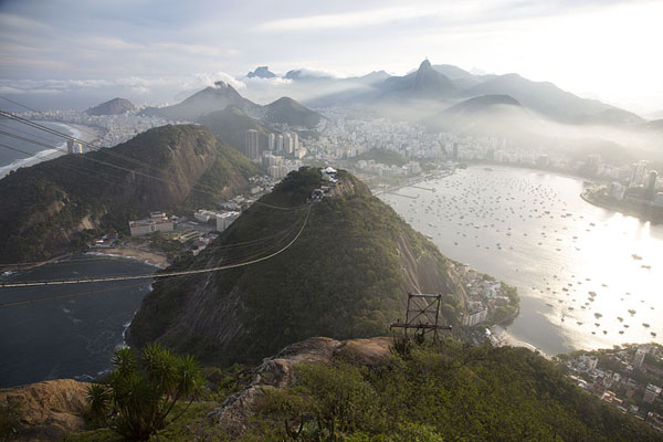 Picture of Sugar Loaf (Brazil): Sugar Loaf: view over Praia Vermelha and Copacabana