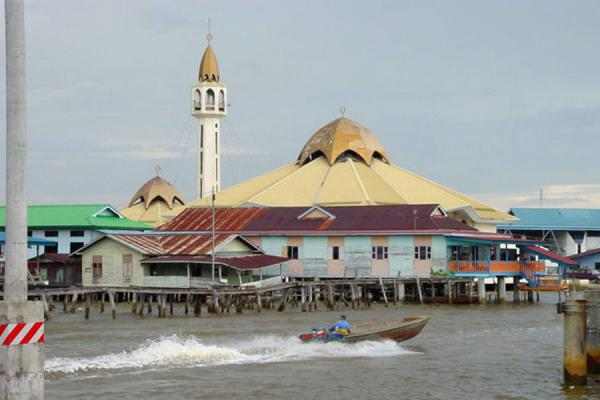 Foto van Mosque on stiltsKampung Ayer - Brunei