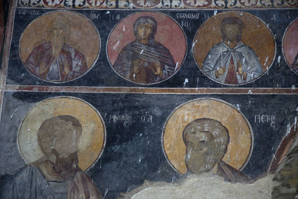 Foto van Close-up of frescoes inside the Church of the Holy Mother of GodAsen - Bulgarije