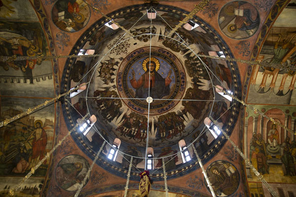 Picture of Looking up a dome of Sveta Bogoroditsa churchBachkovo - Bulgaria