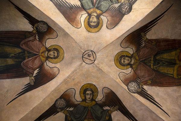Ceiling of Sveta Bogoroditsa church with angels | Monastère de Batchkovo | Bulgarie