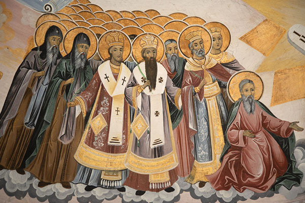 Photo de Detail of a mural on the wall of Sveta Bogoroditsa churchBatchkovo - Bulgarie