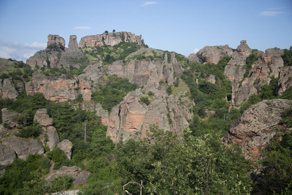 Foto van Overview of the rock formations near BelogradchikBelogradchik - Bulgarije