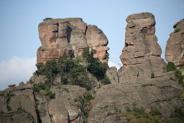 Foto van Rock formations on which you can use your fantasy to see figures, animals, faces, and moreBelogradchik - Bulgarije