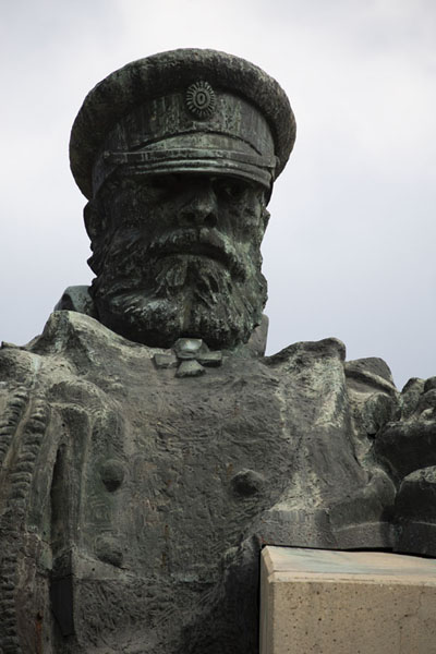 Russian officer sculpted in the monument | Defenders of Stara Zagora monument | Bulgaria