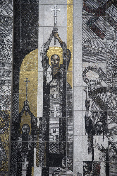 Detail of the mosaics of the monument | Founders of the Bulgarian State monument | 保加利亚