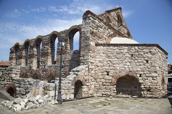 Foto van The ruins of the church of Saint Sophia, in the heart of NesebarNesebar - Bulgarije