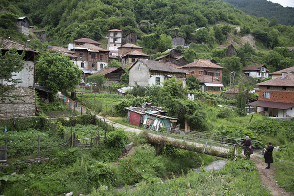 View of Pirin village from a distance | Pirin | Bulgaria
