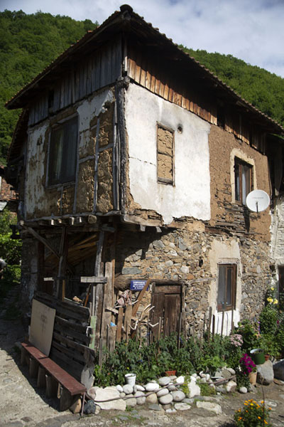 Picture of One of the traditional houses of PirinPirin - Bulgaria