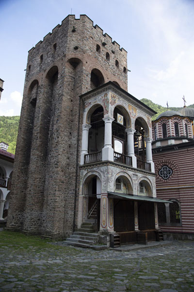 Hreliova Tower, built in 1335, is the only original building remaining in the monastery | Rila Monastery | Bulgaria