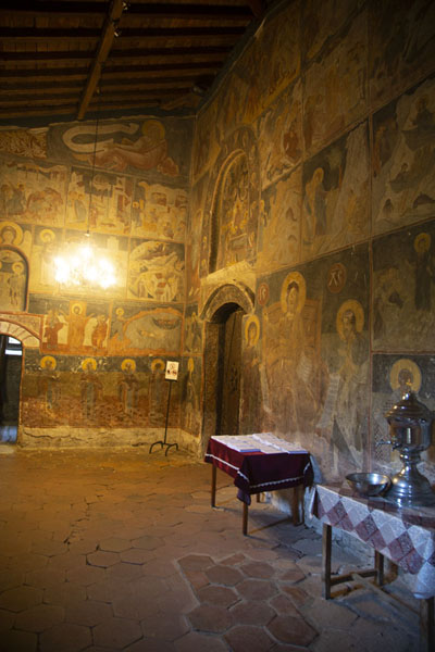 Hall of the church of Rozhen Monastery, covered in frescoes | Rozhen Monastery | Bulgaria