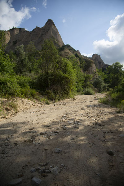 The dry riverbed on the Melnik side of the trail to Rozhen | Rozhen Monastery | Bulgaria