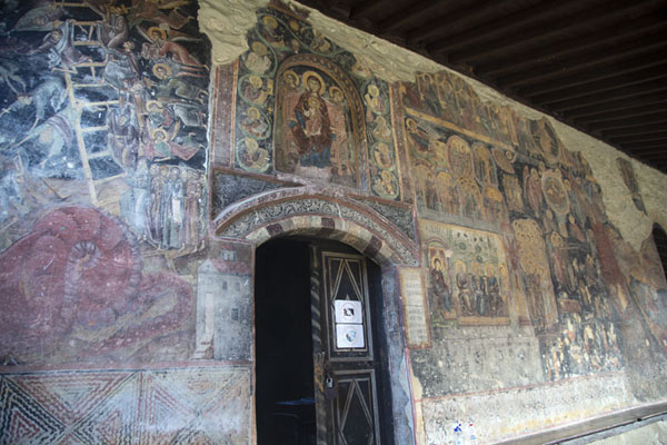 The murals outside the church of Rozhen Monastery | Rozhen Monastery | Bulgaria