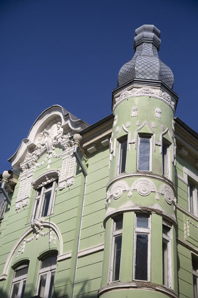 Light green building in the centre of Ruse | Roese | Bulgarije