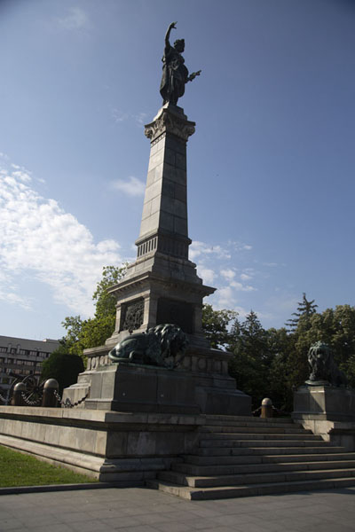 Foto van The Liberty Monument in the centre of Freedom Square, in downtown RuseRoese - Bulgarije