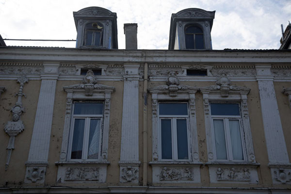 One of the embellished balconies of the city | Ruse | Bulgaria