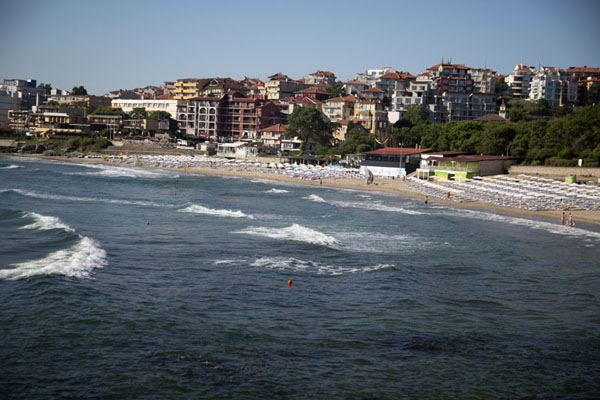 Bay with beach at the east side of Sozopol - 保加利亚