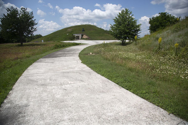 Picture of Path leading to the mounds of SveshtariSveshtari Thracian tomb - Bulgaria