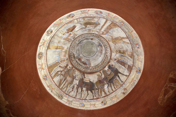 Looking up the dome of the Thracian tomb in Kazanlak | Thracian tombs | Bulgaria