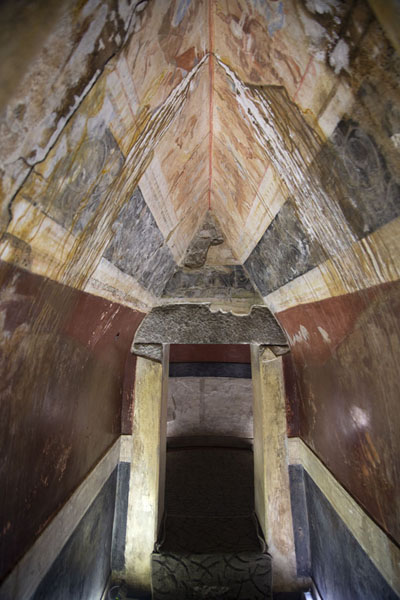 Corridor in the copy of the Thracian tomb in Kazanlak | Thracian tombs | Bulgaria