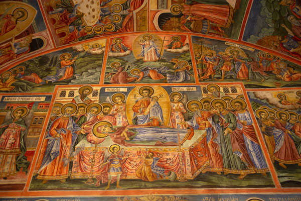Picture of Frescoes inside the main church of the monasteryTransfiguration monastery - Bulgaria