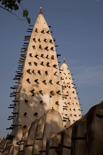 Picture of Afternoon light on the two minarets of the Grande Mosquée of Bobo-Dioulasso - Burkina Faso - Africa