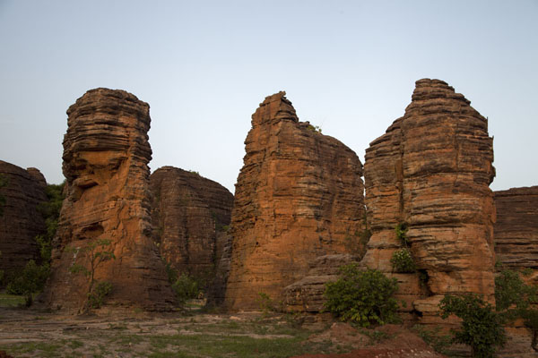 Pillars of rock at the Domes of Fabedougou | Domes de Fabedougou | Burkina Faso