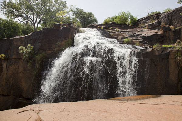 Water tumbling down the vast rocks of Karfiguela | Karfiguela waterfalls | Burkina Faso