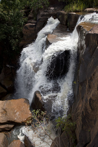 Side view of one of the larger falls of Karfiguela | Karfiguela waterfalls | Burkina Faso