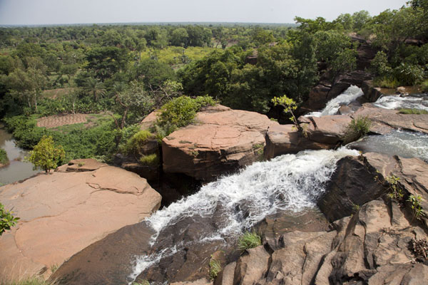 Falls and view of Karfiguela | Karfiguela waterfalls | Burkina Faso