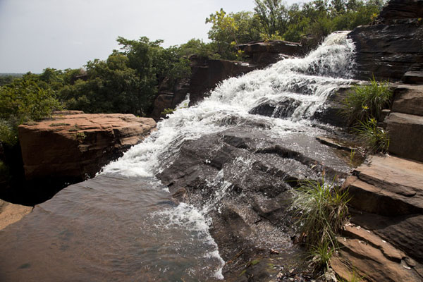 Side view of one of the many falls at Karfiguela | Karfiguela waterfalls | Burkina Faso