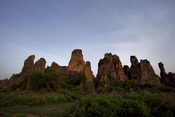 Picture of Sindou Peaks (Burkina Faso): Sunset over Sindou Peaks