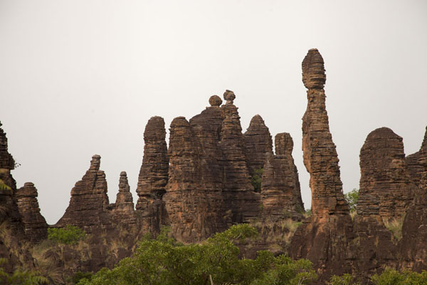 Picture of Sindou Peaks (Burkina Faso): Towers of rock rising from the plains at Sindou