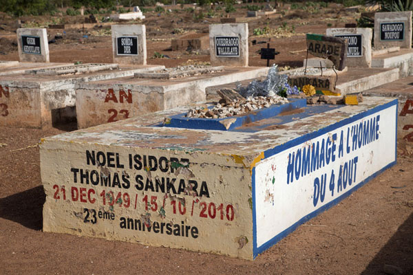 Picture of Thomas Sankara Tomb (Burkina Faso): The simple grave of the former president of Burkina Faso, Thomas Sankara